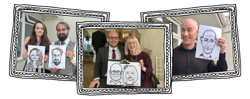 Cornwall Caricatures live drawing